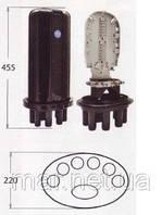 Муфта малогабаритная сварочная,  7 вводов, 1- 6 кассет S027 номинальной емкостью 24 и 48 сварок.