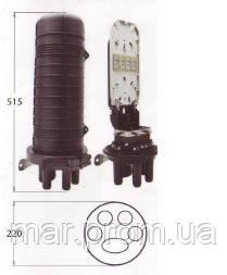 Муфта сварочная , 5 вводов  кабелей, 1- 4 кассет S112, номинальной емкостью 12 и максимальной 24 сварок