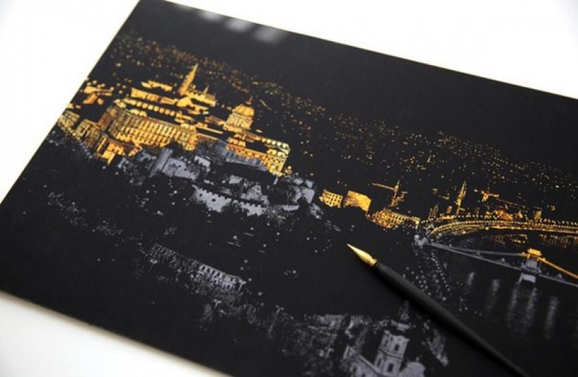 Скретч картина Париж ночью - Sitymix в Киеве