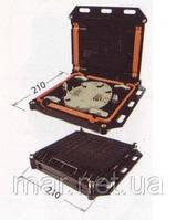 Муфта  сварочная,  4 ввода, 1 кассета S108 номинальной емкостью 8 и 16 сварок.