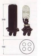 Муфта  сварочная,  4 ввода, 1 кассета S206 номинальной емкостью 6 и 12 сварок.