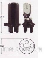 Муфта малогабаритная сварочная,   5 вводов, 1- 4 кассет S037 номинальной емкостью 6 и 12 сварок.