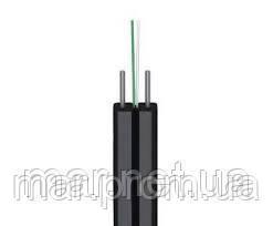 Кабель оптический FTTH001-SM-02, 1 волокно, две стальные упрочняющие проволоки, бухта 500м