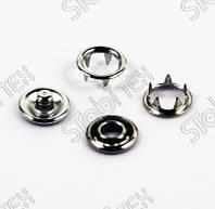 Кнопка одёжная Klikit  9.5mm  белая и никель(1440шт.)