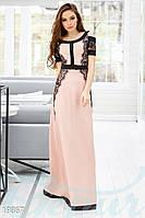 Дизайнерское вечернее платье. Цвет пудрово-черный.