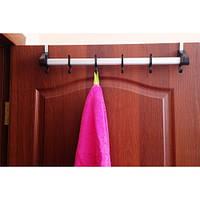 Вешалка для полотенец дверная (40 см) цвет коричневый