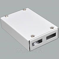 ВО бокс мал 2SC Duplex адаптера , 120х80х28 мм , серый, фото 1