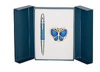 Подарочный набор ручка и держатель для сумки Лета синий