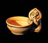 Керамічна сільничка з червоної глини Бабуся, фото 5
