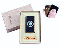 """Спиральная USB зажигалка """"BMW"""" №4809-5, прекрасная идея для подарка, практичное приобретение"""