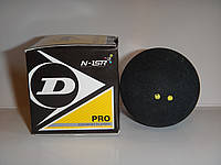Мяч для сквоша DUNLOP (1шт) 700108 REVELATION PRO DOUBLE DOT (резина, черный)