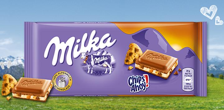 Молочный шоколад Milka Chips Ahoy 100гр. Австрия, фото 2