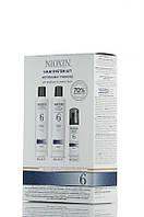 Nioxin 6 - Набор По уходу за жесткими склонными к выпадению волосами - Hair System Kit