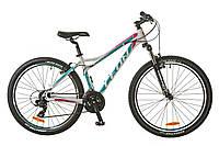 """Велосипед SKD 26"""" Leon HT-LADY AM 14G Vbr рама-18"""" Al бело-голубой (м) 2017"""