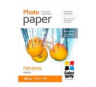 Фотобумага ColorWay глянцевая, 180 г/м, Letter, 100 л, картонная упаковка (PG180100LT)