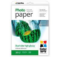 Фотобумага ColorWay глянцевая, двухсторонняя, 220 г/м2, Letter, 20 л (PGD220020LT)