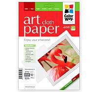 Фотобумага ColorWay глянцевая, с тесненной фактурой имитации ткани, 230 г/м2, Letter, 10 л (PGA230010CLT)