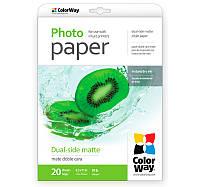 Фотобумага ColorWay матовая, двухсторонняя, 220 г/м, Letter, 20 л (PMD220020LT)