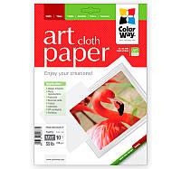Фотобумага ColorWay матовая, с тесненной фактурой имитации ткани, 220 г/м2, Letter, 10 л (PMA220010CLT)