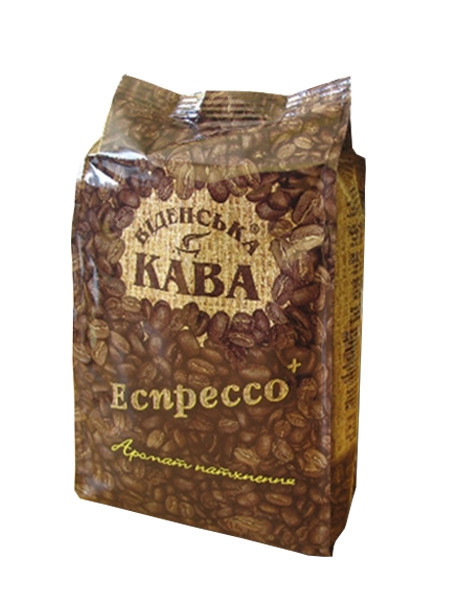 Кофе в зернах Віденська кава Espresso Plus 500 г