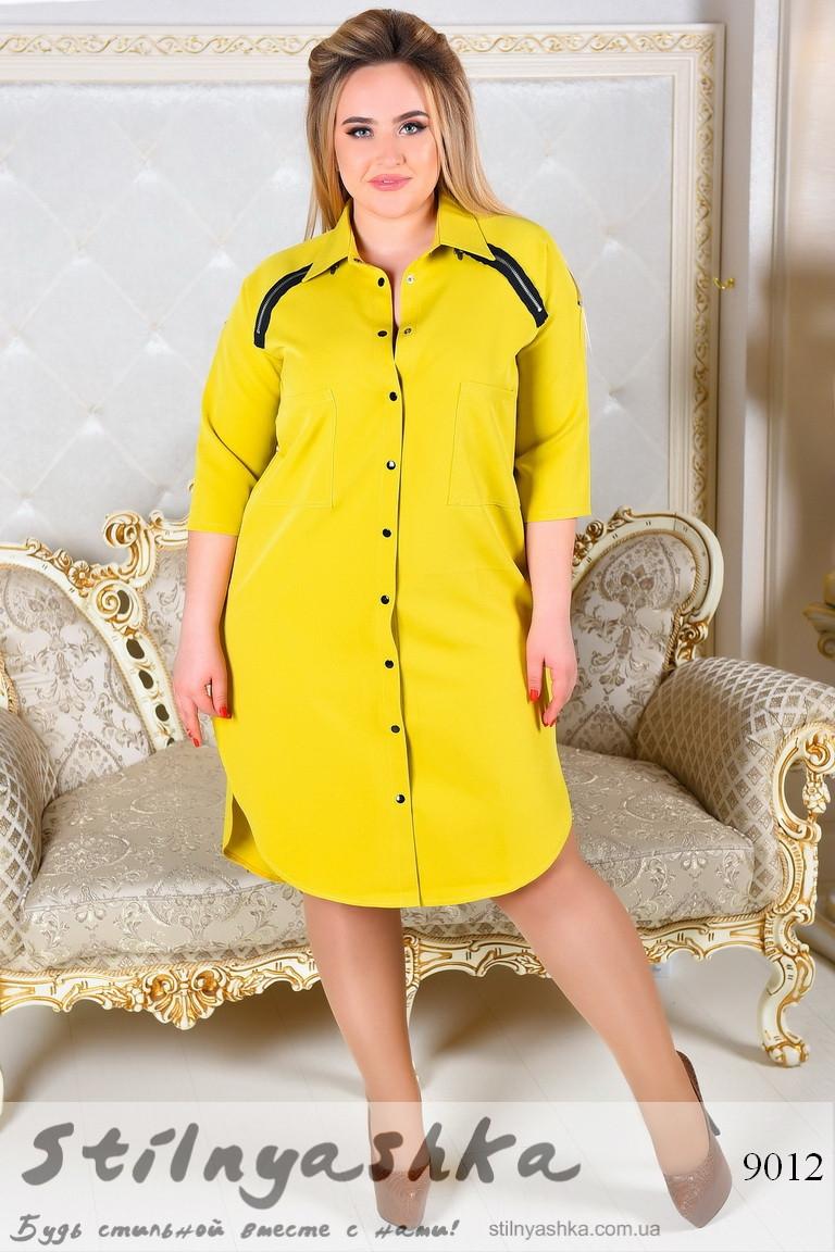 женское платье-рубашка большого размера