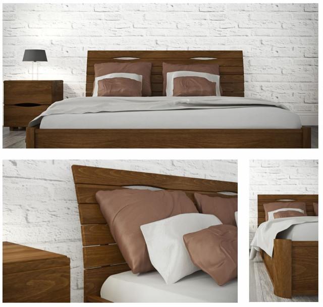 Кровать двуспальная Марита Люкс с подъёмным механизмом (Бук)
