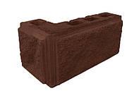 Блок колотый угловой с фаской, 390х190х90 х190 мм, цветной