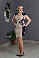 Элегантное нарядное платье женское беж р.48-52 V274-1