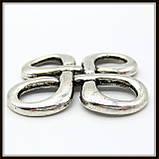 """Коннектор """"Узел"""" серебро (2,8х2,8 см) 3 шт в уп., фото 2"""