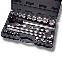 Профессиональный набор инструмента 3-4 дюйма, 20 ед (гол. 19-50 мм) пластиковый кейс INTERTOOL ET-6023