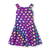 Фиолетовое платье Сердце Childrens Place, 3Т