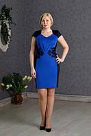 Элегантное нарядное платье женское синее р.48-52 V274-3
