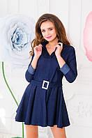 Короткое платье с поясом - AF545