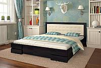 Кровать деревянная с кожей Регина