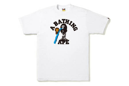 Мужская Футболка Bape White|Белая|акула лого