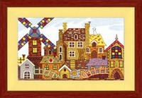 Набор для вышивания крестом Crystal Art Сказочный городок