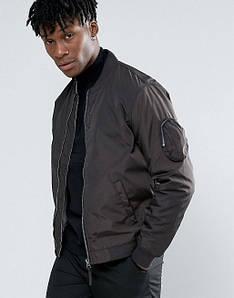 Куртка бомбер Bellfield - Hubble черного цвета мужская (чоловіча)