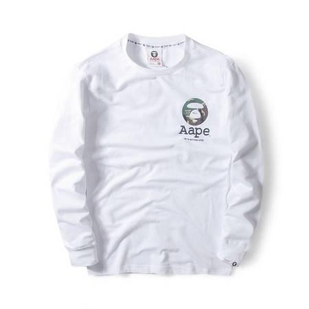 Мужская Кофта Свитшот Bape White Белий лого на груди