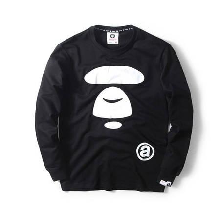 Мужская Кофта Свитшот Bape Black| Черный|класик лого
