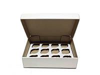 Коробка для капкейков, кексов и маффинов 12 шт 320*238*80