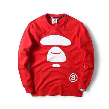 Мужская Кофта Свитшот Bape Red| Красный| класик лого