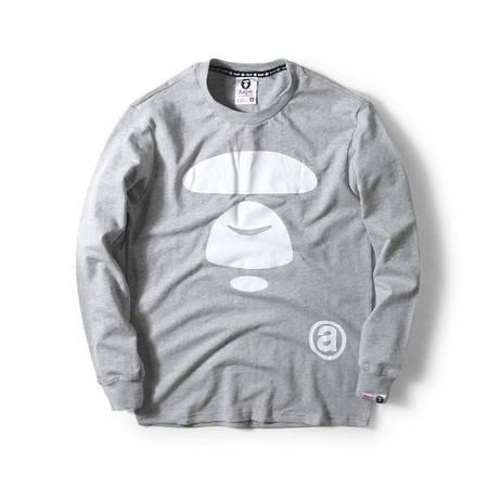 Мужская Кофта Свитшот Bape Gray   Серый  класик лого