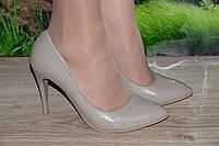 Туфли на каблуке М9беж Crisma кожа размер 36