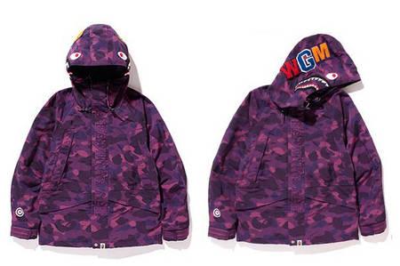 Мужская Худи Bape  shark hoodie Camo Pink