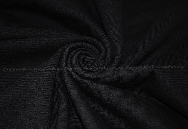 Чёрная мягкая женская футболка