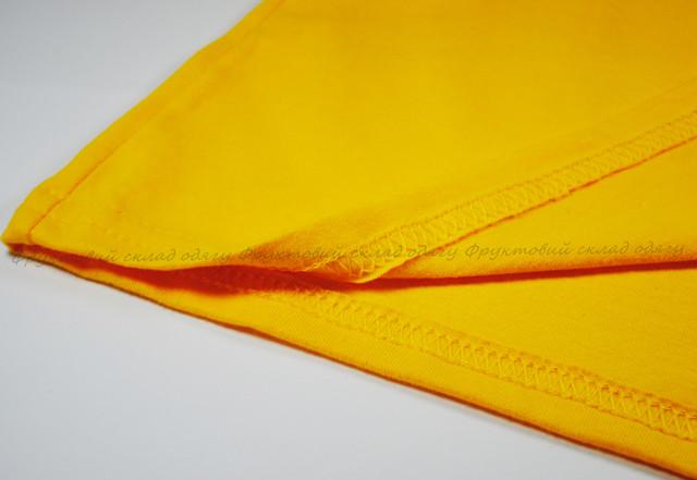 Солнечно-жёлтая мягкая женская футболка