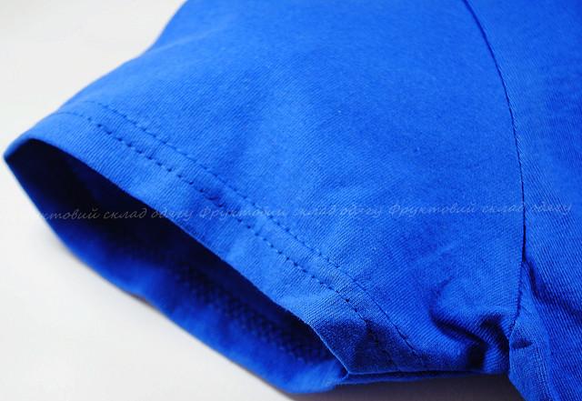 Ярко-синяя мягкая женская футболка