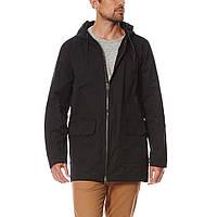 Куртка парка D-Struct - Kibo черного цвета удлиненная мужская (чоловіча)