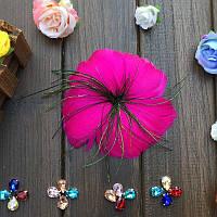Перо-цветок декоративный Фуксия 12 см 1 шт