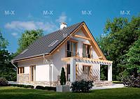 MX110. Современный манcардный дом